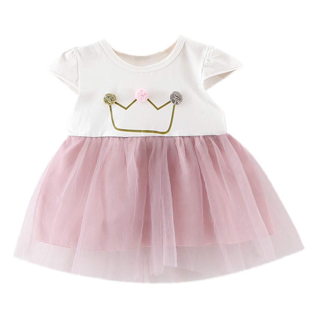 Infant Baby Kids Girls Princess Party Dress Denim Crown Beach Dress Sundress