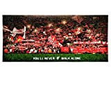 Personalized Corner Anfield on a European Night Painting Effect Beach and Bath Towel - Gift Idea for Husband Boyfriend Soccer Fan for Summer Fun