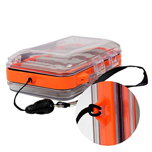 Smartcoco Double side Waterproof Fly Fishing Box Foam insert with lanyard