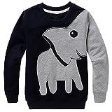 Jomago Boys Shirts Toddler Long Sleeve Top Kids Elephant Tee Toddler Sport Sweatshirt