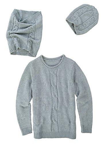 Dress In Damen 3tlg. Set Bestehend aus Pullover, Mütze und Loop Wärmend 44 by