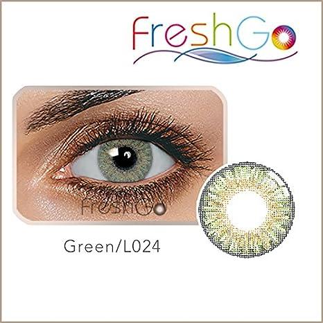 d456321d89 Lentes de contacto blandas anuales, color verde, sin graduación, con  estuche para guardarlas, cómodas, perfectas para ojos claros y oscuros:  Amazon.es: ...