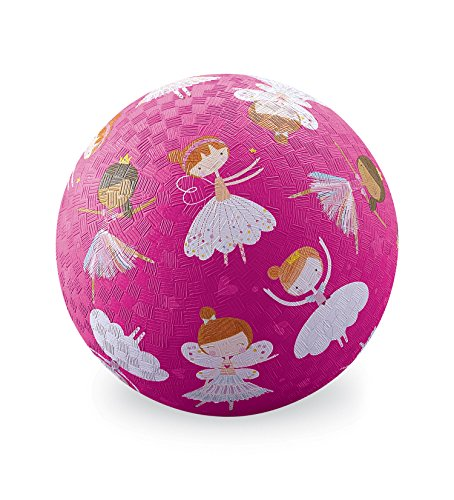 Crocodile Creek Sweet Dreams Ballerinas Fairies Playground Balls, Pink/Purple/White/Tan/Brown, 5'' by Crocodile Creek