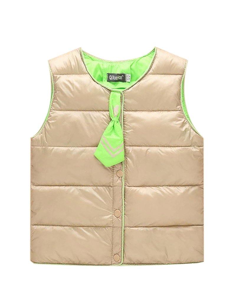 PengGeng Winter Coats for Girls Ultralight Gilet Warmer Down Jacket Kids Sleeveless Vest
