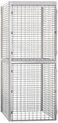 Salsbury Industries Bulk Storage Locker Double Tier Starter, 36-Inch, 48-Inch