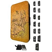 873 - Lord of the Ring map of middle earth Design Fashion Trend Credit Card Holder Purse Wallet Book Style Tpu Leather Flip Pouch Case Samsung Galaxy Alpha