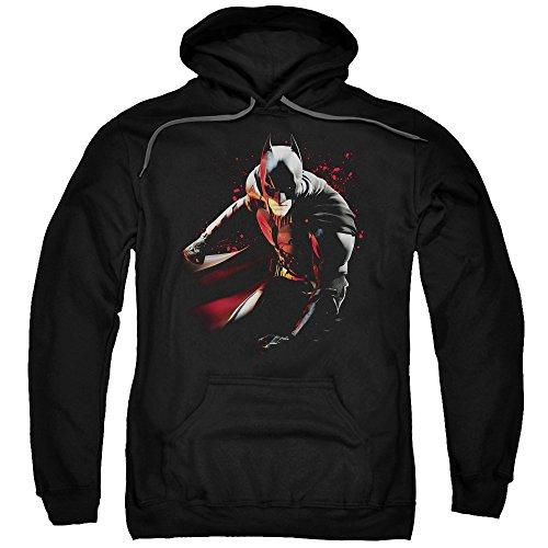 Trevco Men's Batman Dark Knight Rises Hoodie Sweatshirt, Ready Black, X-Large