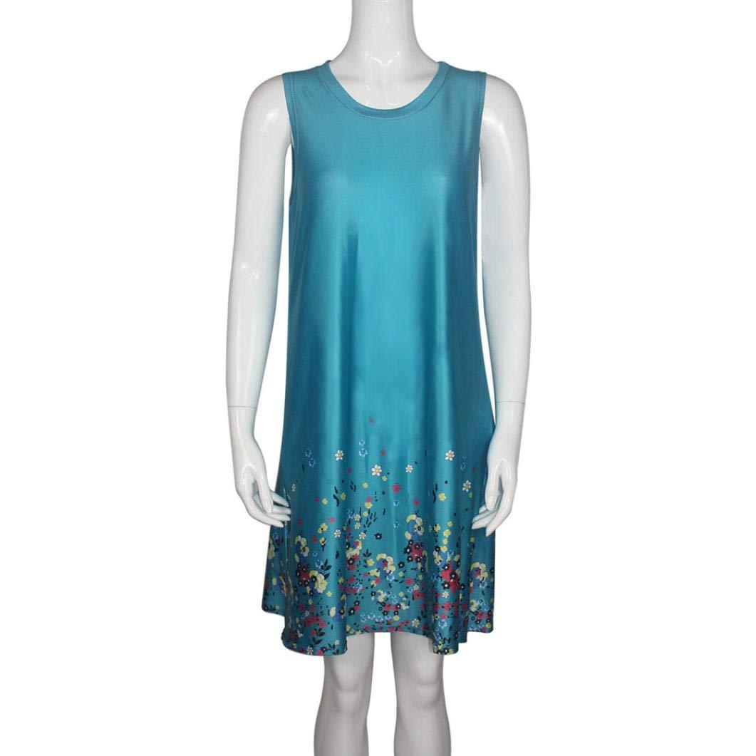 Overdose SeñOras De Las Mujeres Ocasionales Floral Impreso Pijama De Verano Boho SeparacióN MáS TamañO 5XL 6XL Vestidos De La Camiseta con Bolsillos Mini ...