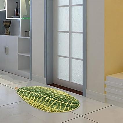 Entrance Door Mat Barrier Mats TiTa-Dong Green Leaf Non Slip Kitchen Mat Bath Rug Runner Carpet Doorway Indoor//Outdoor Shoes Scraper Entryway Rug Floor Mat for Patio//Porch//Home//Living Room//Bedroom