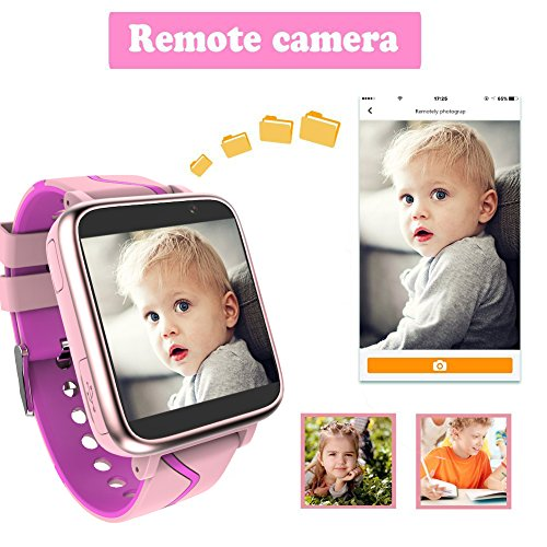 Jesam Kids Music Player Smart Watch - Smart Watch with Mp3 FM Player Watch [with 1GB Micro SD Card] and Camera Flashlight SIM Slot Phone Call Voice Chat for Students Age 4-12 (Pink&Rose) by Jesam (Image #5)