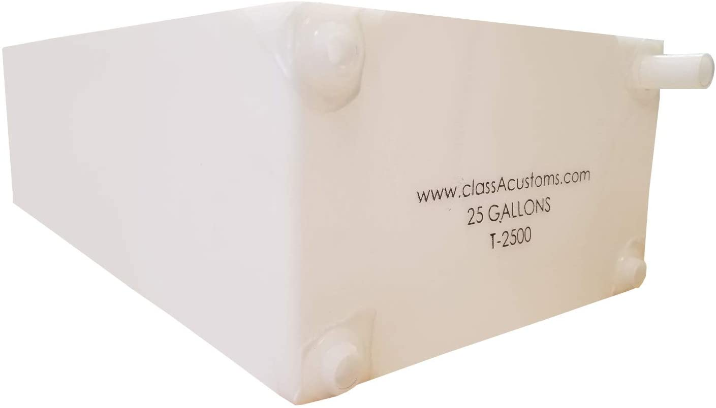 Class A Customs | T-2500-SP | One (1) Spouted 25 Gallon RV Fresh and Gray Water Holding Tank RV Concession