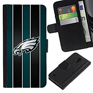 Stuss Case / Funda Carcasa PU de Cuero - Eagle Hawk Equipo deportivo - Samsung Galaxy S4 IV I9500