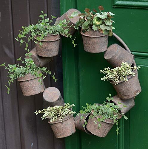 - Mikash Planter Pot Wreath, Brown | Model WRTH - 596