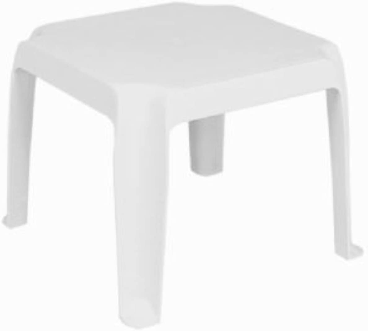 Compamia Sunray Resin Square Side Table White