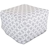Majestic Home Goods Links Ottoman, Large, Gray