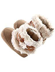 Lowpricenice(TM) Newborn Baby Girls Boys Cute Bow-knot Cotton polyester fabric Shoes Toddler Winter Anti-slip Warm Snow Boots