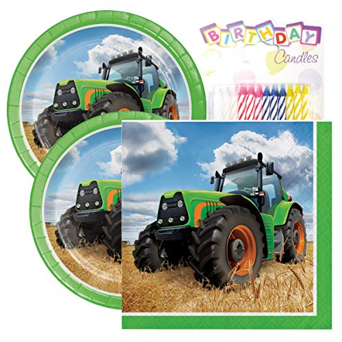 Tractor Time Birthday Party Pack - Includes 7
