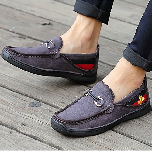 del Ante de pie Gris Mocasines Casuales Grises de los Zapatos Hombres aw8WpqRqZ