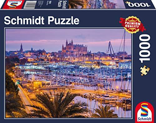"""Schmidt Spiele """"Old Town and Harbor, Palma de Mallorca Puzzle (1000 Piece)"""