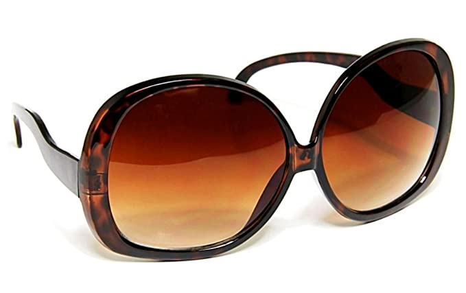 056cf4fdfa3 Image Unavailable. Image not available for. Color  Oversized Brown Gradient  Huge Sunglasses Vintage Style Women Glasses