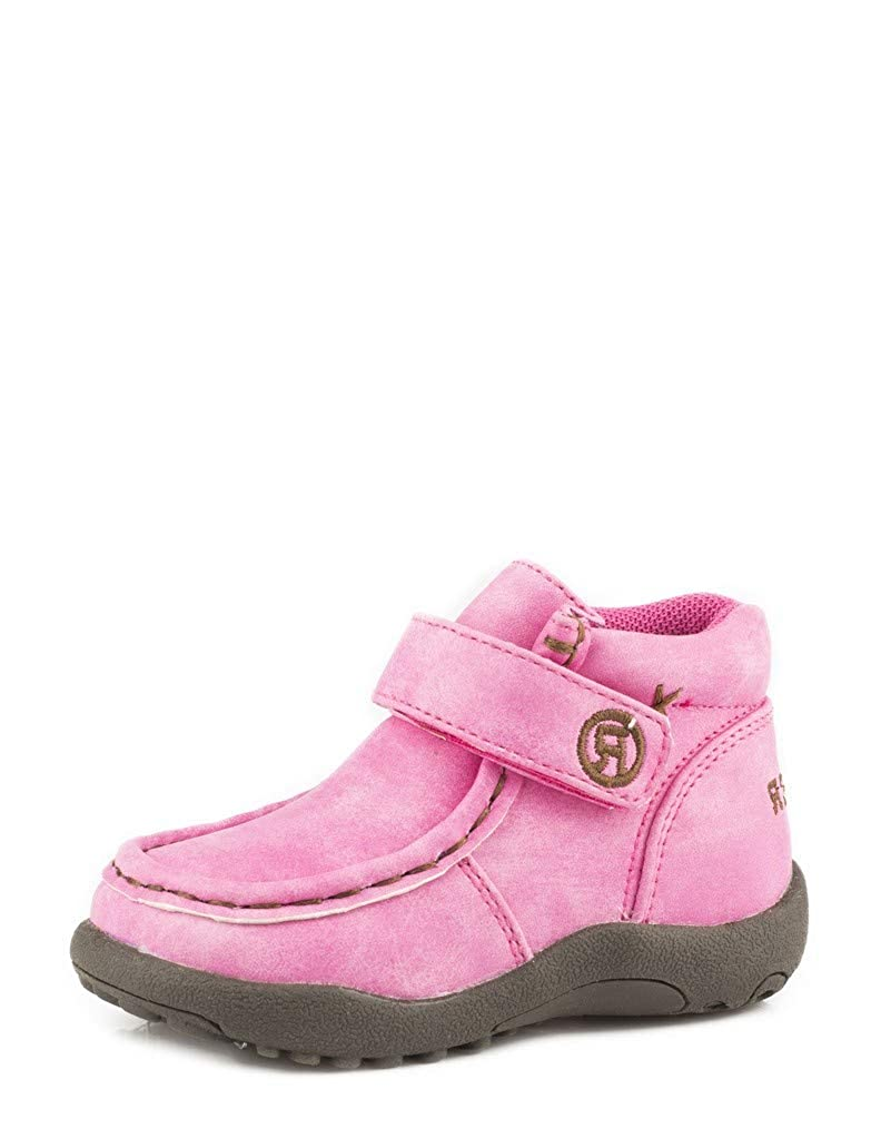 Pink Faux Leather 8 M US Toddler Pink Faux Leather 8 M US Toddler Roper Kids Baby Girl's Moc (Toddler)