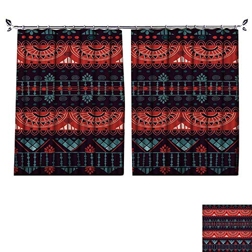 Antimicrobial Envelope Window (DESPKON Facial Blend Fabric high Density Tribal Seamless Pattern It can be Used for Cloth,Jackets,Bags,notebooks,Cards,envelopes,Pads Shading for Bedroom W72 x L96)