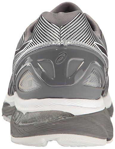 ASICS Herren Gel-Nimbus 19 Laufschuh Kohlenstoff / Weiß / Silber