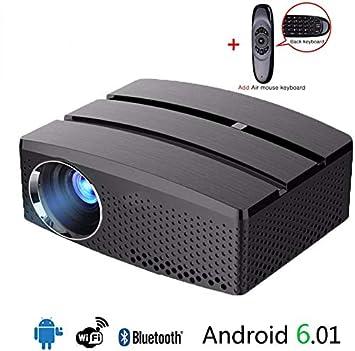 HAWK LI Mini Proyector portátil Wi-Fi y Bluetooth de Cine en casa ...