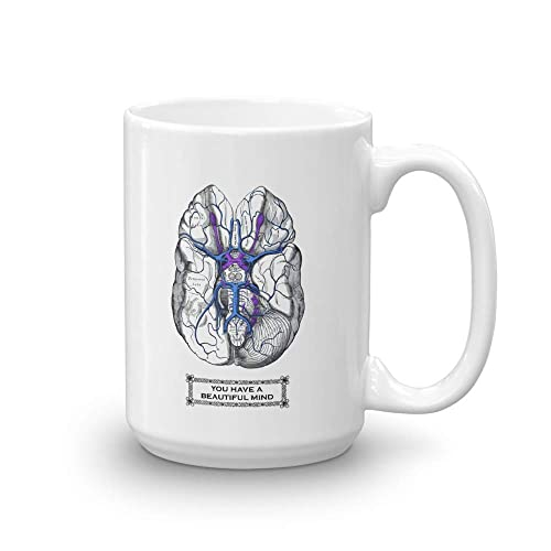 Amazon.com: BRAIN Anatomy Coffee Mug, Psychologist Gifts, Deluxe ...