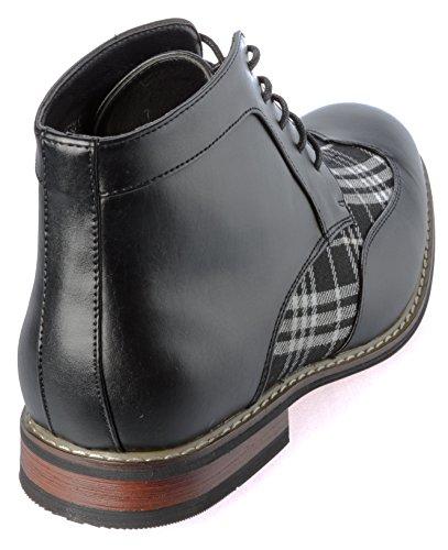 Enzo Romeo-titan04hblackwhite Västerländsk Stil Stövlar Svarta Skor Storlek 9