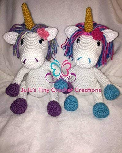 (Unicorn - Unicorn Doll - Unicorn Plush - Stuffed Unicorn - Handmade - Crochet - Design Your Own Unicorn - Birthday Gift - Holiday Gift - Christmas Gift - Baby Shower Gift - Nursery Decoration)