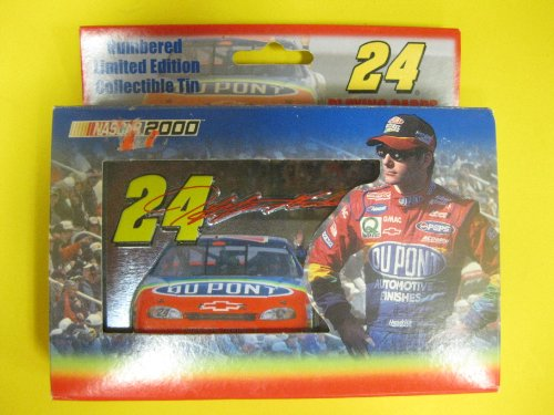 Jeff Gordon Limited Edition Tin with Playing Cards NASCAR 2000