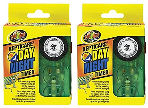 (2 Pack) Zoo Med Repti Day Night Timers