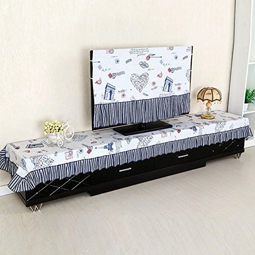 TV cabinet hood/Dust-proof cover/ LCD TV enclosures fabrics/ lace tablecloth/Rural home appliance covers-B 80x200cm(31x79inch)