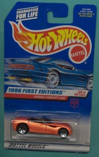 Hot Wheels Mattel 1998 First Editions 1:64 Scale Orange Dodge Concept Car Die Cast Car #035