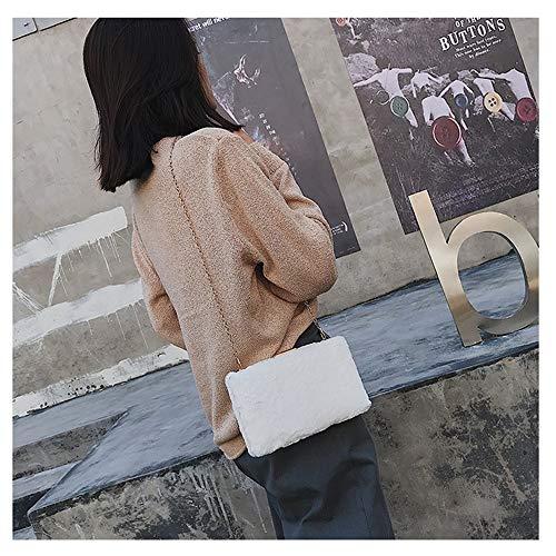 De White Bandoulière Khaki Sacs color Main En Petits Peluche Femmes Sac À Pour Femme Houyazhan Forme pZTnB8qB