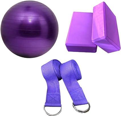 Kit de Ejercicio de Pelota de Yoga | Incluye 2 Bloques de Yoga, 2 ...
