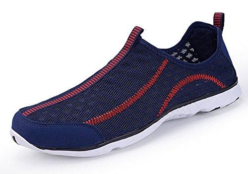 ECOTISH Herren Wasser Schuhe Leicht und Atmungsaktiv Mesh-Wasserdichtes Slip-On, Schnelltrocknende Multifunktions -Turnschuhe (42 EU/8 UK, Dunkelblau)
