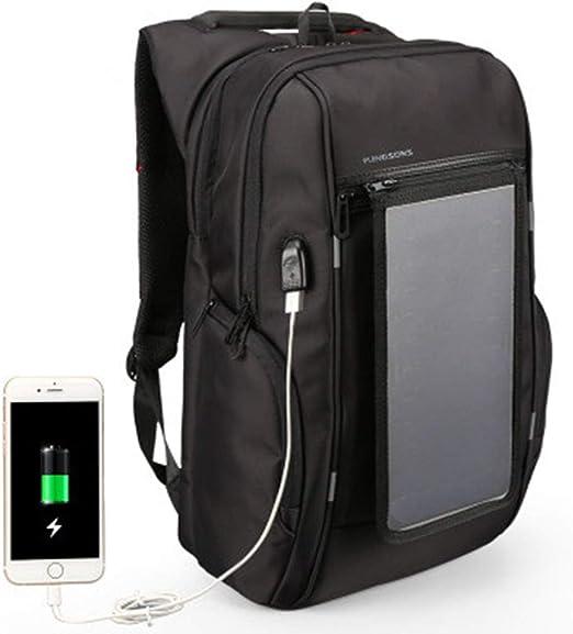 Leeec Mochila Solar 15.6/17 Pulgadas con Desmontable Dual USB de Carga rápida Panel Solar portátil Mochila de Viaje de Negocios Bolsa de Viajero Casual Mochila para iPad Smartphone,15.6inch: Amazon.es: Hogar