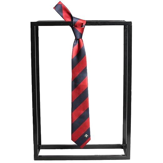 Neckchiefs Corbata roja y Azul de Corbata para Hombre con diseño ...