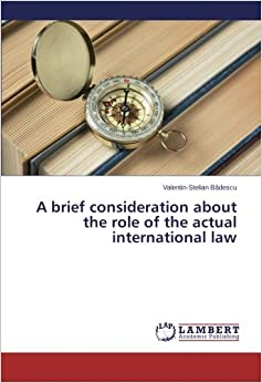 Book A brief consideration about the role of the actual international law