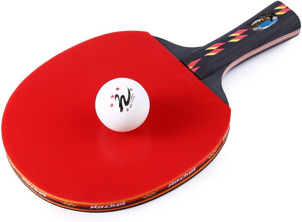 Hoja Raqueta de tenis de mesa raqueta de Ping Pong una shake-hand agarre bate Paddle Ball