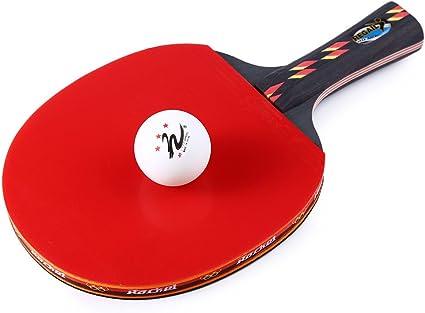Alberta Raquette de tennis de table Ping Pong One Penhold Bat Paddle Ball