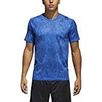 adidas Alphaskin Men's Sport Supreme Speed-Print Tee (Hi-Res Blue/Carbon)