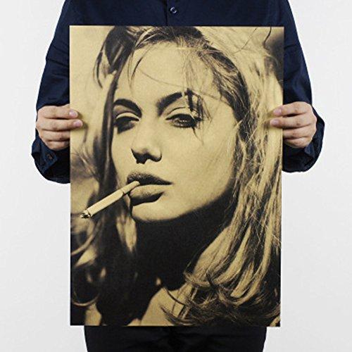 Fangeplus(TM)Angelina Jolie Voight Old Style Antique Vintage Poster Bar Coffee Shop Room Decor - Jolie Style Angelina