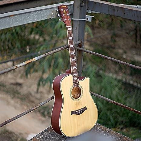 Guitarra / de madera de abeto diapason color embutido artesanal de ...