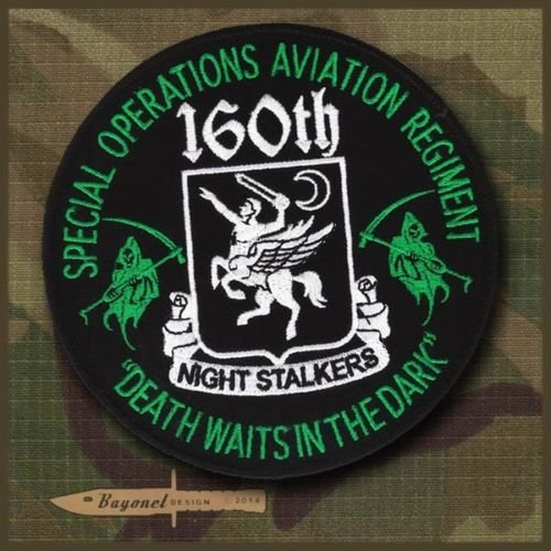 """51hDyvAo%2BRL buy the best video games- Large 5"""" 160th SOAR patch - Night Stalkers - Death Waits in the Night - US Special Forces"""