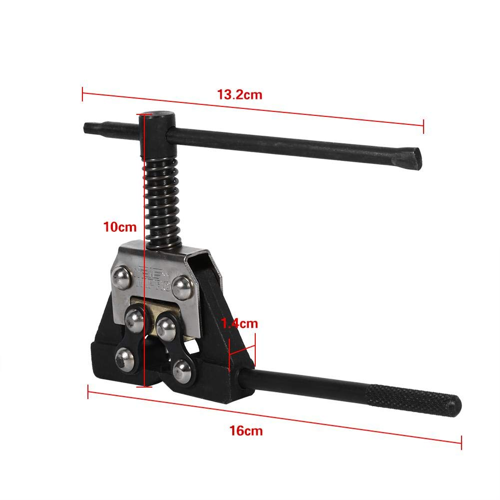 Cuque Chain Disconnector Motorcycle Metal Circuit Breaker Separator Connecting Rod Removal Pitch Riveting Tool ATV Bicycle Black for 420 428 520 525 530 Chain