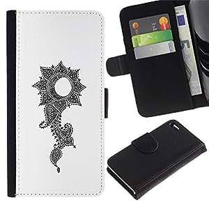 All Phone Most Case / Oferta Especial Cáscara Funda de cuero Monedero Cubierta de proteccion Caso / Wallet Case for Apple Iphone 4 / 4S // crecer