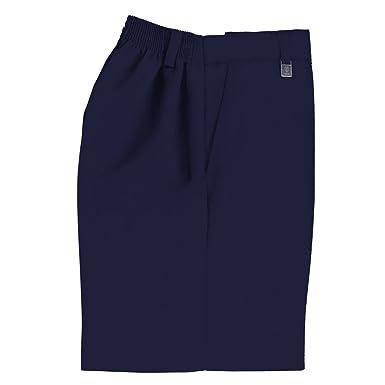 45584c43c7d86 Uniforme escolar niños resistente generoso Fit pantalones cortos gris
